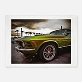 70 MUSTANG MACH 1 5'X7'AREA RUG Or Wall Hanging Brand New From Cafe Press, Never Used in Plainfield, Illinois