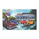 ITS BURGER TIME Vintage CAR 3'X5' AREA RUG or Wall Hanging Bought Brand New From Cafe Press, Nev... in Yorkville, Illinois