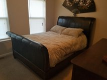 5 piece Queen Sleigh Bed with 2 dresser and one nightstand in Kansas City, Missouri