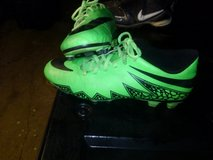 Nike neon green Hypervenom cleats in Warner Robins, Georgia