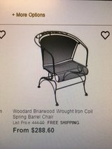 Chair King Wrought  Iron Patio set by Woodard Briarwood collection in Kingwood, Texas