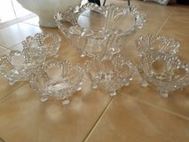 7pc Beautiful Glass Punch Bowl in Naperville, Illinois