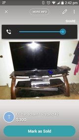 42' LG flat screen & TV Stand in Fort Rucker, Alabama