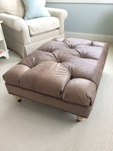 Ethan Allen - brown Distressed Ottman REDUCED in Naperville, Illinois