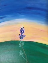 Texas Bluebonnet Painting in Brenham, Texas