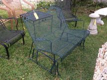 Wrought Iron Loveseat Glider in Beaufort, South Carolina