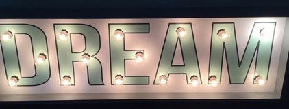 DREAM light up sign in Joliet, Illinois