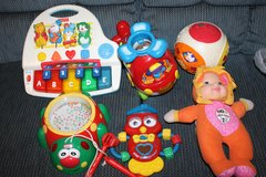 Vtech Little Tykes Fisher Price Baby toddlers toys Piano Helicopter Ball Doll Electronic All 6 f... in Bartlett, Illinois