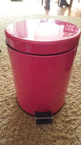 Small pink trash can in Fort Leonard Wood, Missouri