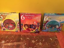 3 sets of storybooks with Read Along DVD and CD in Chicago, Illinois