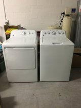 GE washer and gas dryer in Tampa, Florida