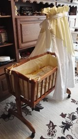 Baby cradle ALVI with conopy mattrass and clothing in Ramstein, Germany
