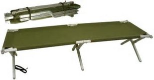 Military green Metal cots (2), in Lawton, Oklahoma