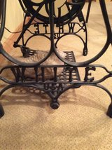"""Antique """"WHITE"""" Sewing Machine Frame W Oak Top in Naperville, Illinois"""