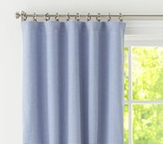 Pottery Barn Kids blue gingham curtains in Fort Campbell, Kentucky