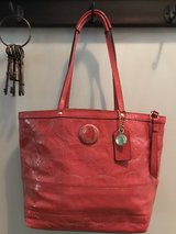 Coach Patent Leather Handbag in Camp Lejeune, North Carolina