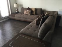 Sectional, pillows and lamp in Arlington, Texas