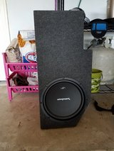 "12 "" Rockford fosgate subwoofer with 1500 watt amp in The Woodlands, Texas"