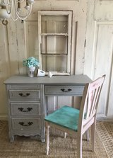 French Desk and Chair - San Antonio Gray in Kingwood, Texas
