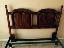 Queen-sized head board and bed frame in Kingwood, Texas