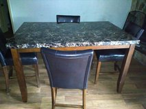 Marble top dining table set in Hinesville, Georgia