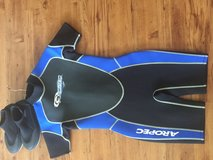 Size 10 Aropec Boy's wetsuit (Shorty) and booties combo in Okinawa, Japan