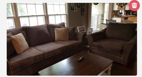 Reduced!!!! Microfiber couch and chair and a half in Naperville, Illinois