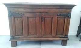 Rare massive antique German oak cabinet around 1690 in Ramstein, Germany