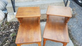 Mid century Ethan Allen Baumritter step end tables in Watertown, New York