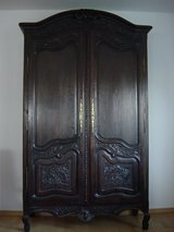 Antique French wedding armoire around 1860 in Ramstein, Germany