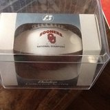 Oklahoma Sooners 2000  Championship Baden mini football in box with display case in Oceanside, California