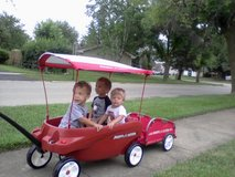 Radio Flyer Triple Play Wagon, Canopy , Trailer in Lockport, Illinois