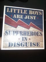 Boys superhero wall decor in Fort Carson, Colorado