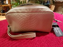 NEW Stella Grey vegan leather cosmetic bag in Glendale Heights, Illinois