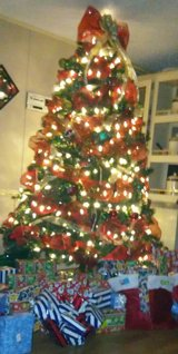 Christmas tree in Fort Campbell, Kentucky