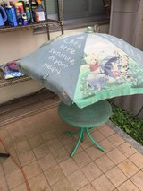 Out door table & umbrella in Okinawa, Japan