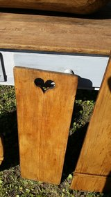 heart cut out bread board treated ,refinished in Ramstein, Germany