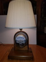 Sangamo Electric Meter Vintage Lamp w/Lightbulb and Shade in Bartlett, Illinois