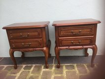 2 antique solid wood drawers nightstands cabinets from France in Ramstein, Germany