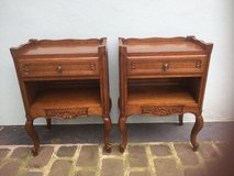 2 nice antique solid wood nightstands from France in Ramstein, Germany