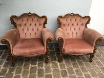 2 antique armchairs walnut from France Shabby Chic in Ramstein, Germany