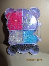 Cute child's bead set with many magnets for closure in own Teddy Bear shaped case in Naperville, Illinois