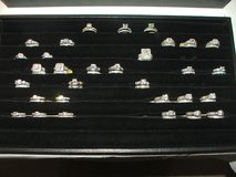 Wedding Ring Sets Sterling Silver with Rhodium Plating Assorted Selection in Naperville, Illinois