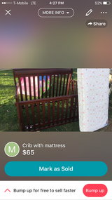 Crib with mattress in Camp Pendleton, California