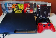 PS 3 Console 2 Controllers 8 Video Games Play Station in Fort Campbell, Kentucky