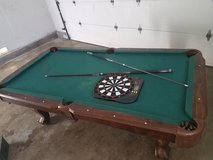 Pool table and dart board in Oceanside, California