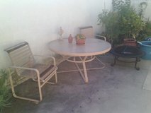 Patio set (6 chairs and table) fire pit in Oceanside, California