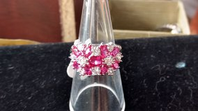 925 SS simulated diamond and ruby ring in Indianapolis, Indiana