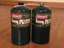Coleman Propane tanks for small gas grill in Okinawa, Japan