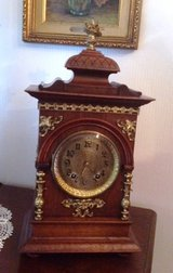 Original antique Lenzkirch wall clock dated 1878 in Ramstein, Germany